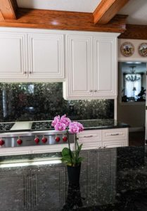 Centerpiece and Kitchen Cabinet Refinish in White