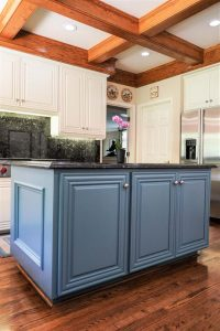 Kitchen Interior With Refinished Island Cabinets