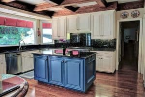 Kitchen Interior With Refinished Cabinets