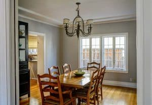 Dining Room With Tan Wall Paint